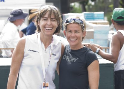 Lindley and Carfrae before her first attempt at the Ironman World Championship in 2009. Photo: Jay Prasuhn